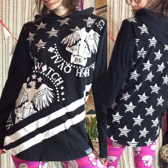 Zumiez Tops - SWITCH Remarkable Eagle Stars Hoodie Long Sleeve T